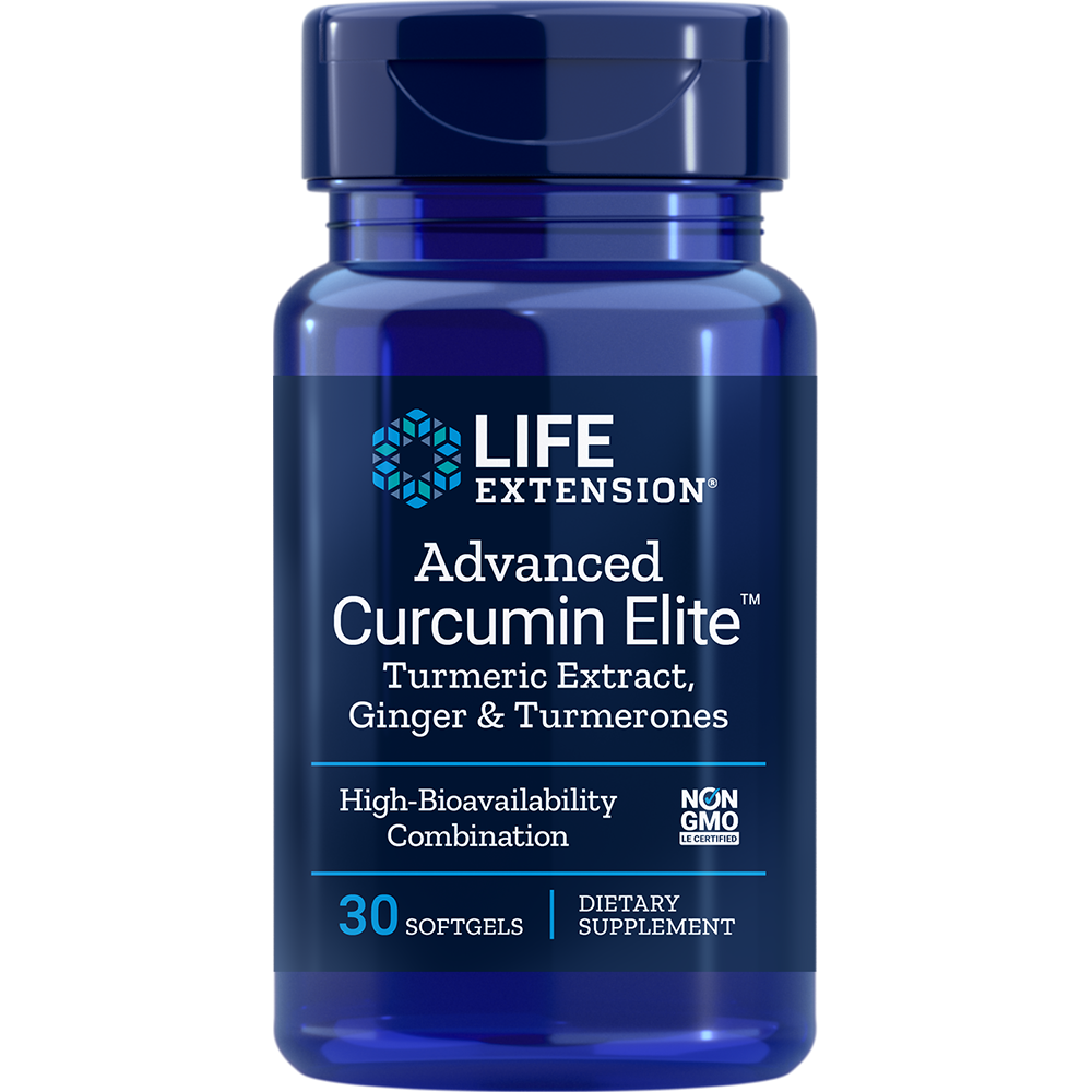 Life Extension Advanced Curcumin Elite with Ginger & Turmerones (30 Softgels)