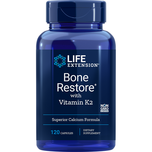 Life Extension Bone Restore with Vitamin K2 (120 Capsules)