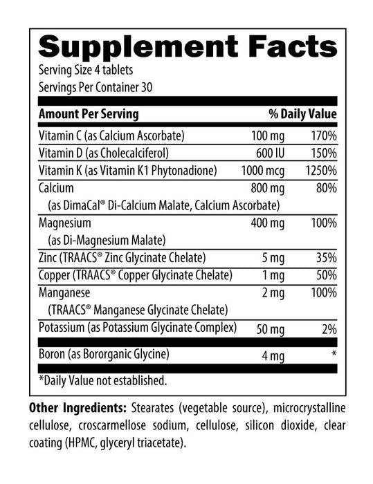 Designs for Health OsteoForce (120 Tablets) Nutrition Facts