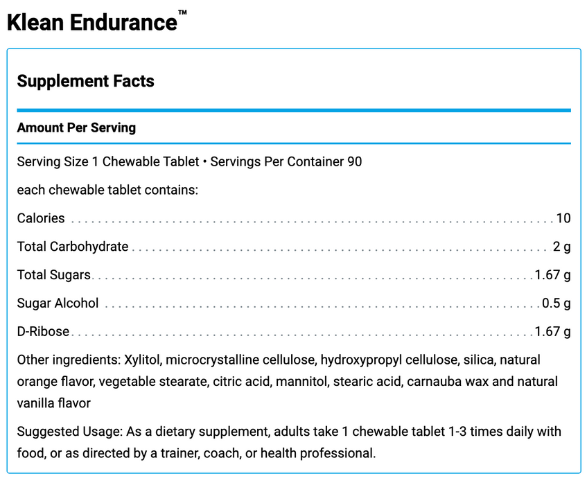 Klean Endurance (90 Chewable Tablets)
