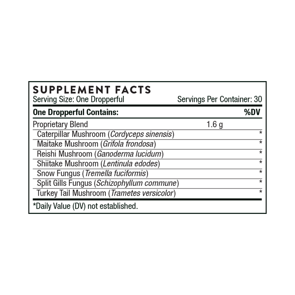 Thorne Myco-Immune (2 Ounces) Supplement Facts