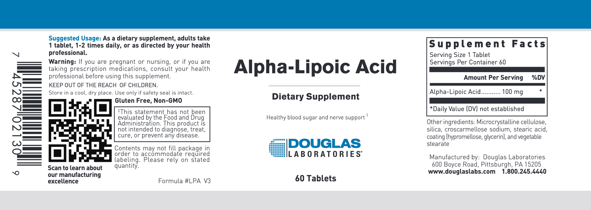 Alpha Lipoic Acid (60 Tablets)