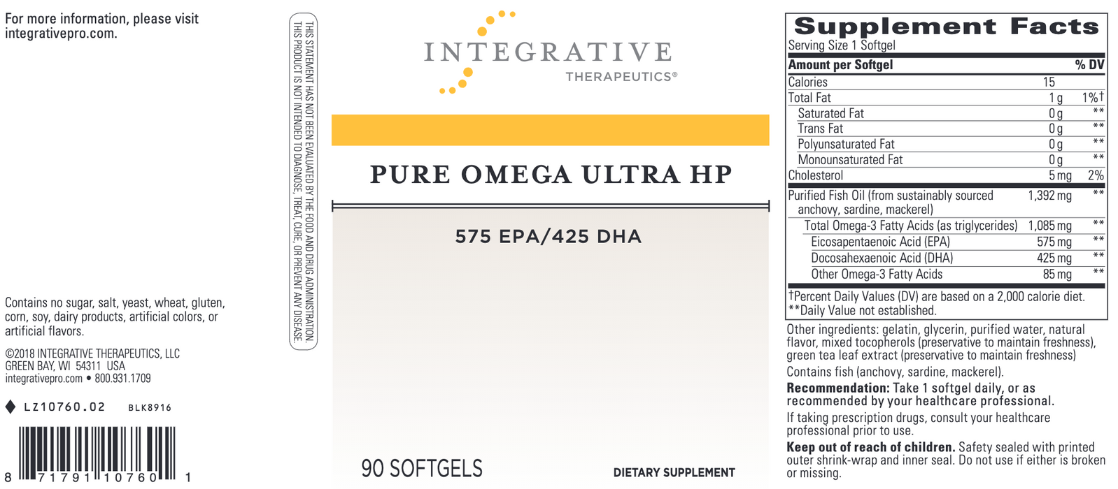 Pure Omega Ultra HP (90 Softgels)