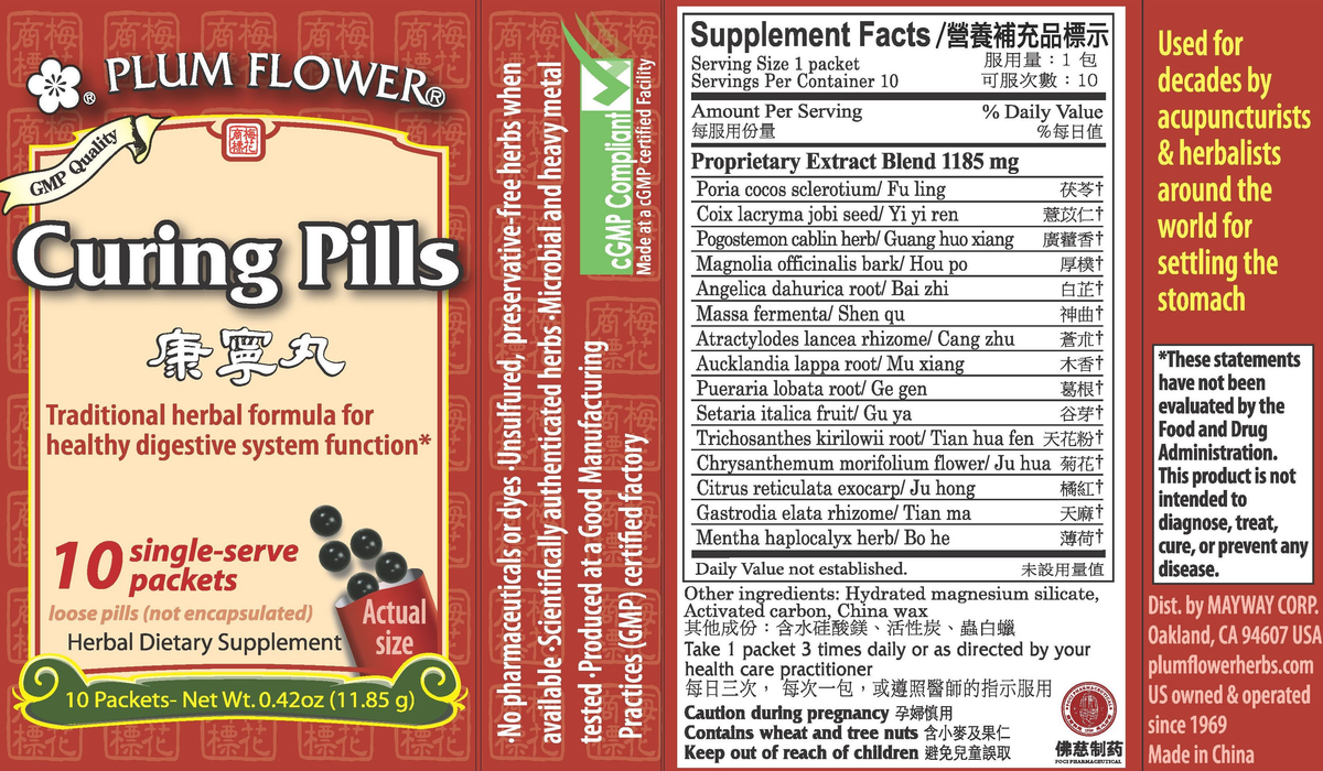 Curing Pills (Stick Packs) (10 Packets) Supplement Facts