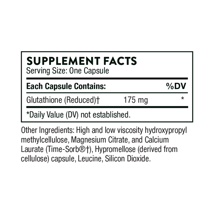 Thorne Thorne Glutathione-SR (60 Capsules) Supplement Facts