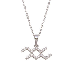 Aquarius Pave Necklace