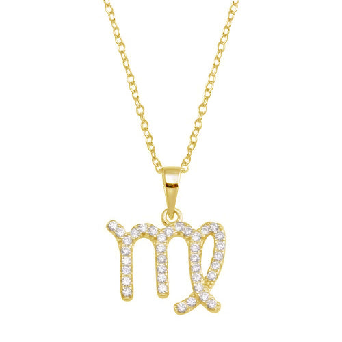 Virgo Pave Necklace