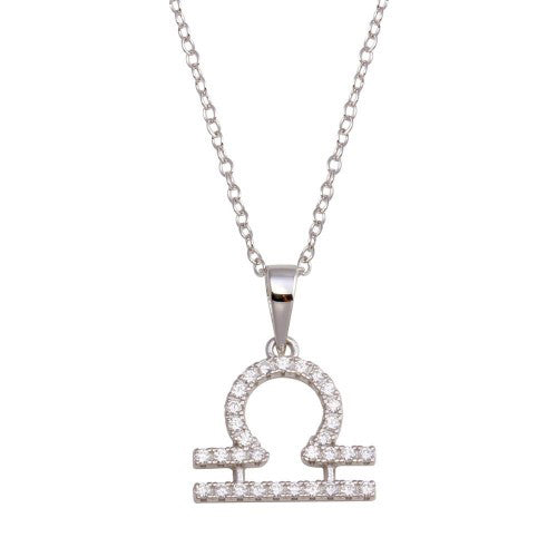 Libra Pave Necklace