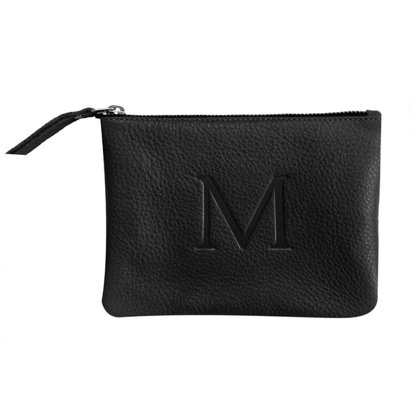Black - Small Monogram Leather Pouch