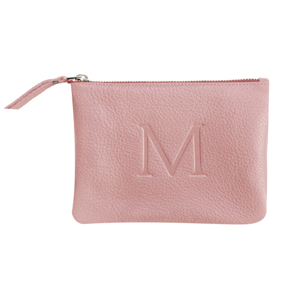 Pink - Small Monogram Leather Pouch