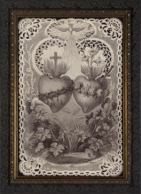 Catholic Art - Sacred and Immaculate Hearts