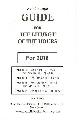 Guide for the Liturgy of the Hours - 2016
