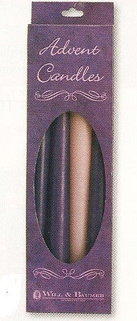 "Advent Candle Tapers - 8"" or 10"" Tall"