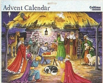 Adoration of the Magi Advent Calendar with Glitter