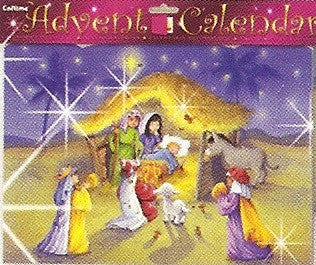 Holy Family Advent Calendar with Glitter
