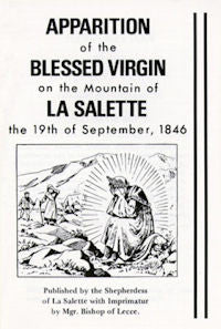Apparition of the Blessed Virgin on the Mountain of La Salette