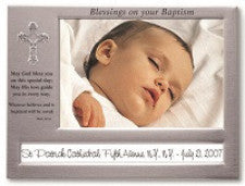 """Blessings on your Baptism"" Picture Frame"