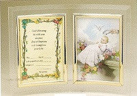 Lucite Baptism Record and Picture Frame