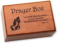 Keepsake Prayer Box with Removable Top
