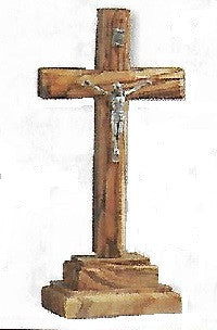 Standing Olivewood Crucifix - 5.75""