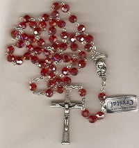 Crystal Rosaries Made in Loreto, Italy