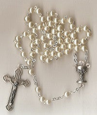 First Communion Rosary - Girl's Pearl Beads