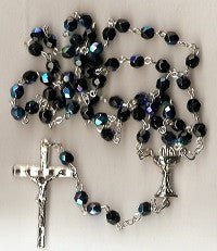 First Communion Rosary - Boy's Glass Beads