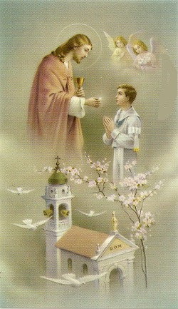 An Act of Joy - First Holy Communion Holy Card