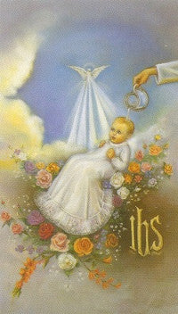 Baptism Holy Card
