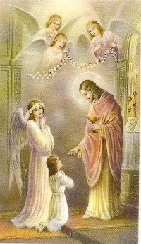 Thanksgiving After Holy Communion - First Holy Communion Holy Card
