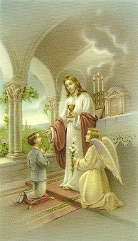 An Act of Offering - First Holy Communion Holy Card