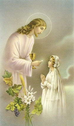 Remembrance of My First Holy Communion Holy Card