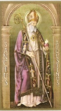 St. Augustine of Hippo Holy Card