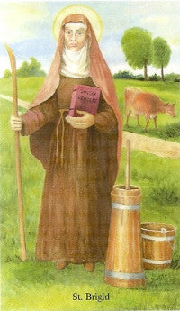 St. Brigid of Ireland Holy Card