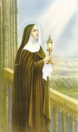 St. Clare Holy Card