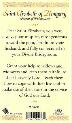 St. Elizabeth of Hungry Holy Card