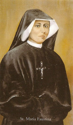 St. Faustina Holy Card