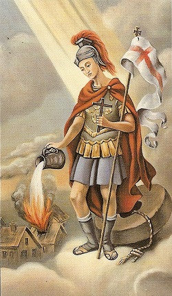 St. Florian Holy Card
