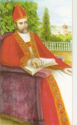 St. Robert, Bishop Holy Card