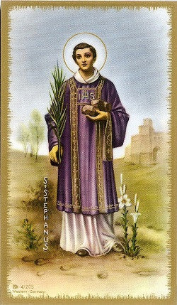 St. Stephen (First Martyr) Holy Card
