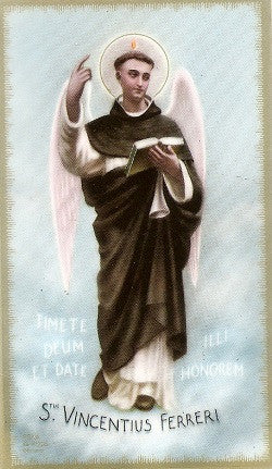 St. Vincent Ferrer Holy Card