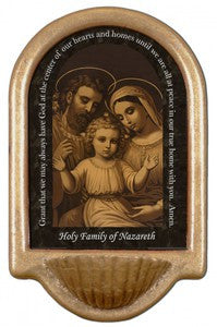 Holy Family at Nazareth Holy Water Font