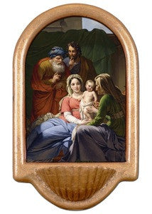 Holy Family with Grandparents Holy Water Font