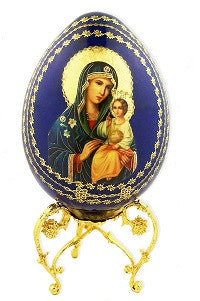 Blue Mary, Eternal Bloom Icon Egg with Gold Metal Base