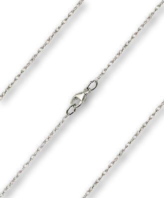 Fine Rope Chain - Sterling Silver, Lobster Claw Closure