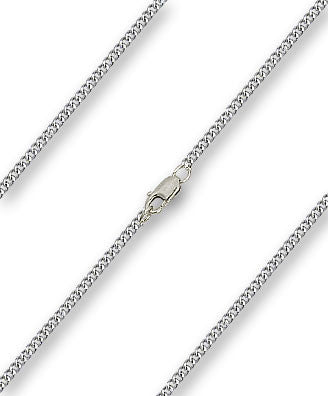 Medium Curb Chain - Sterling Silver, Lobster Claw Closure