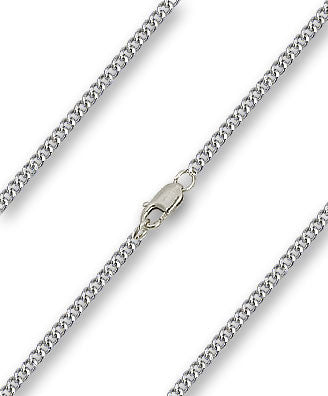 Heavy Curb Chain - Sterling Silver, Lobster Claw Closure