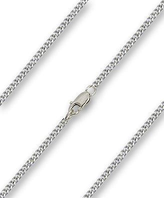 Medium Heavy Curb Chain - Sterling Silver, Lobster Claw Closure