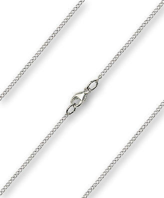 Fine Curb Chain - Sterling Silver, Lobster Claw Closure