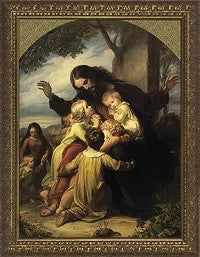 Jesus with the Children, Gold Frame